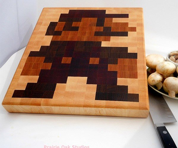 Mario Cutting Board Perfect for Slicing Mushrooms