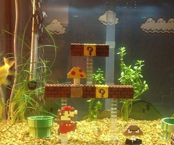 Guy Creates Super Mario Bros Scene Inside Fish Tank, Not the Underwater Level