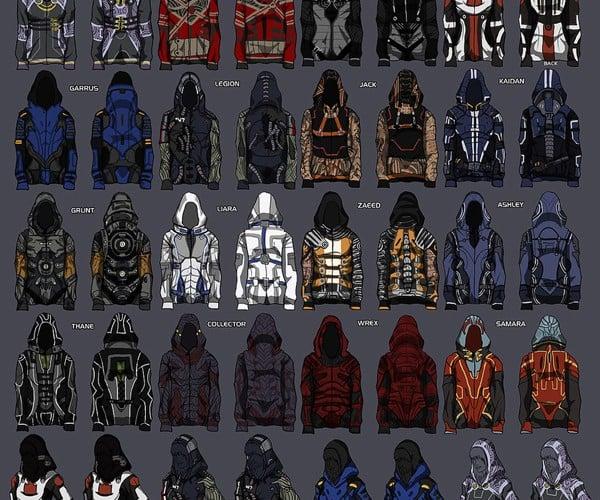 mass effect hoodie concept by christine schott