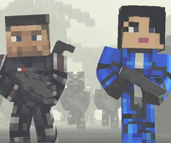 Minecraft Mass Effect 3 Machinima: Mine Earth Down