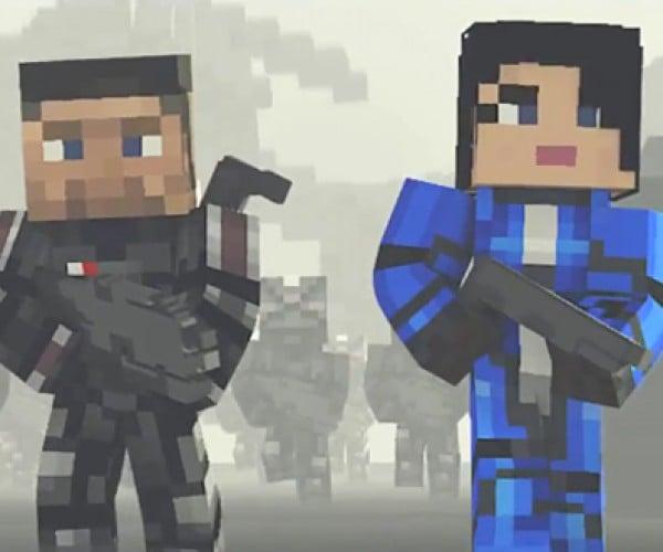 Minecraft Mass Effect 3 Machinima: Mine Earth Down