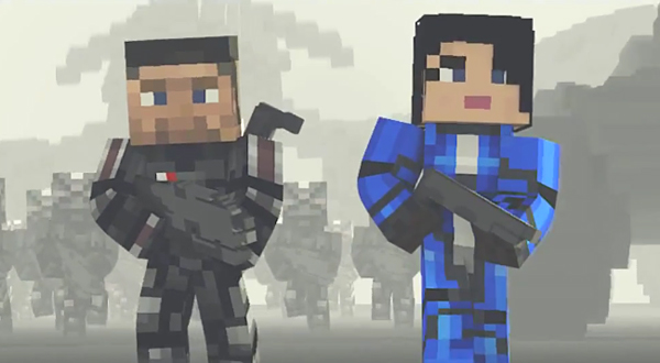 mine effect 3 minecraft mass effect 3 machinima