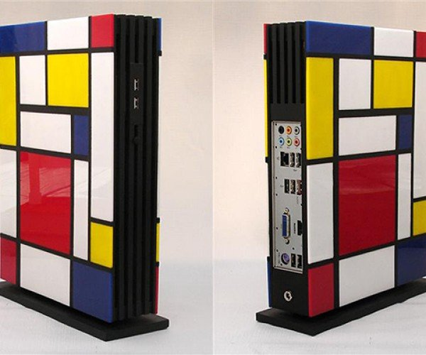 mondrian pc case by jeffrey stephenson