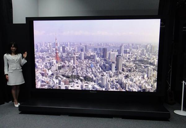 nhk panasonic 145 inch 8k ultra high definition display
