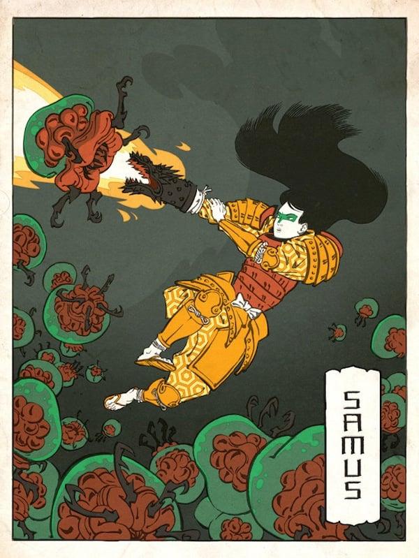 japanese ukiyo nintendo art