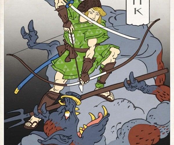 Nintendo Characters as Ukiyo Woodblock Prints: Very Creepy Turtles