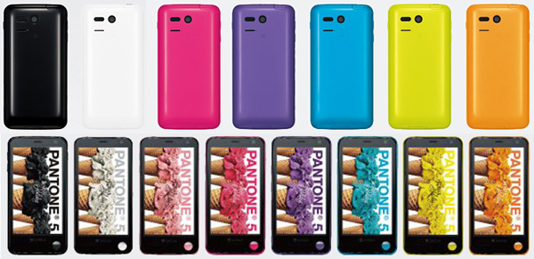 pantone sharp softbank radiation detection phone colors