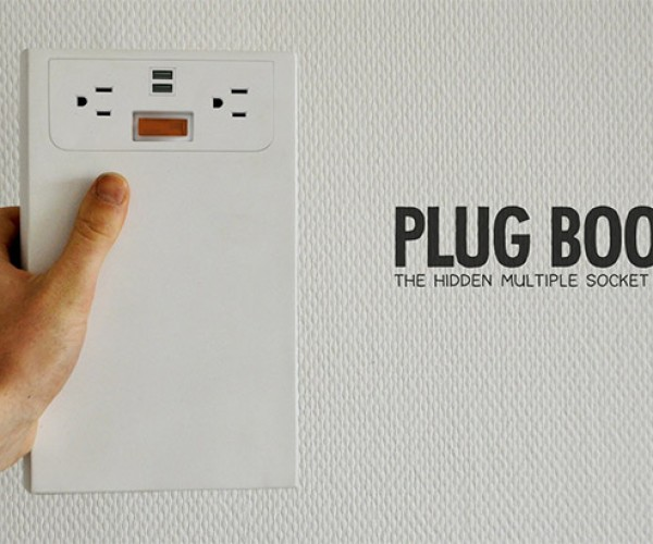 Plugbook Hides Spare Outlets on Your Bookshelf