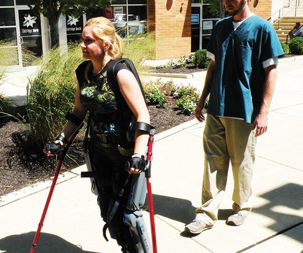 ReWalk Robotic Exoskeletons Let Paraplegics Walk Again
