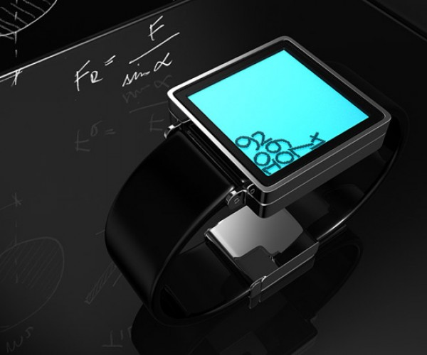 Gravity LCD Watch Concept: The Time is Falling