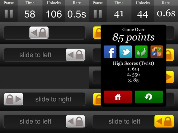 slide iphone game