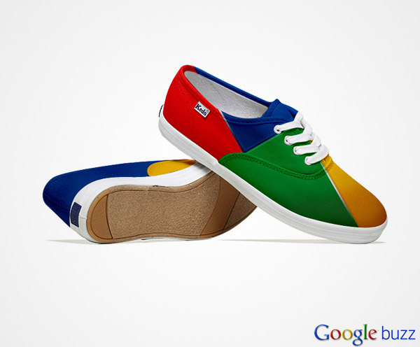 social media shoes google buzz