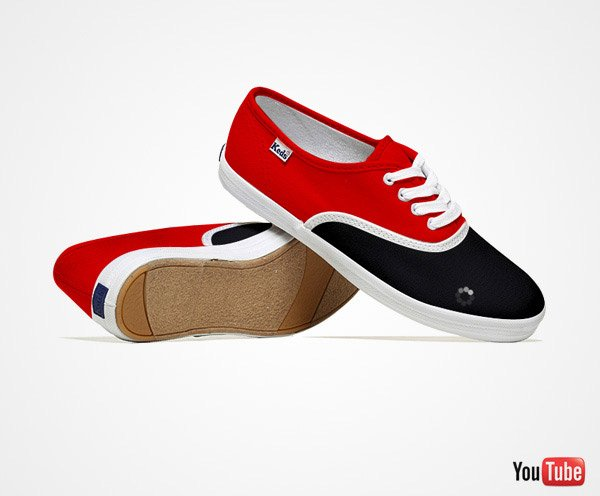 social media shoes youtube