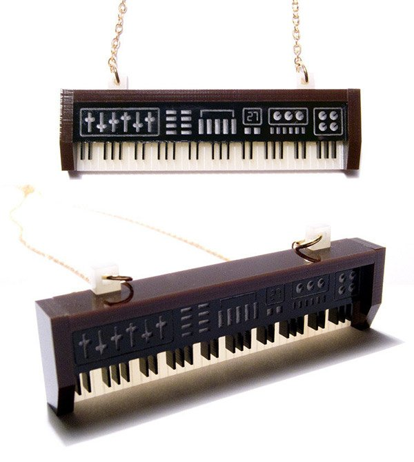 synthesizer necklace