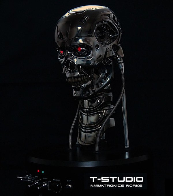 t 800 animatronic bust