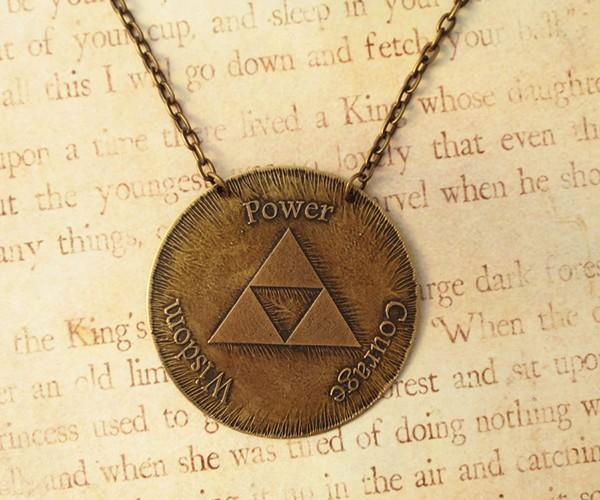 Triforce Jewelry Set:  Power, Wisdom, Courage, Necklace, Bracelet, Earrings