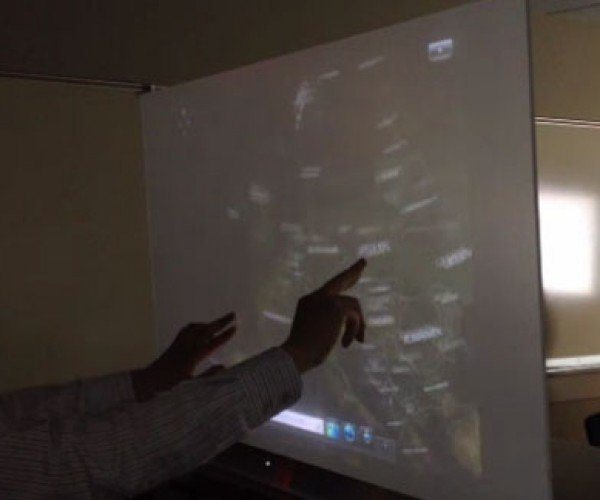 Ubi Interactive Uses Kinect to Turn a Wall into a Touchscreen