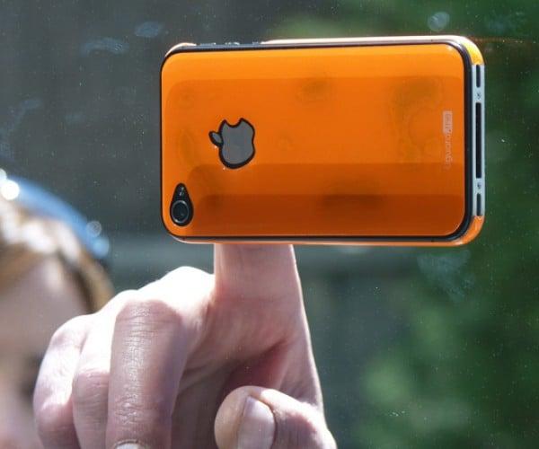 iPhone Resin Skin Sticks to Glass Like Gecko Feet