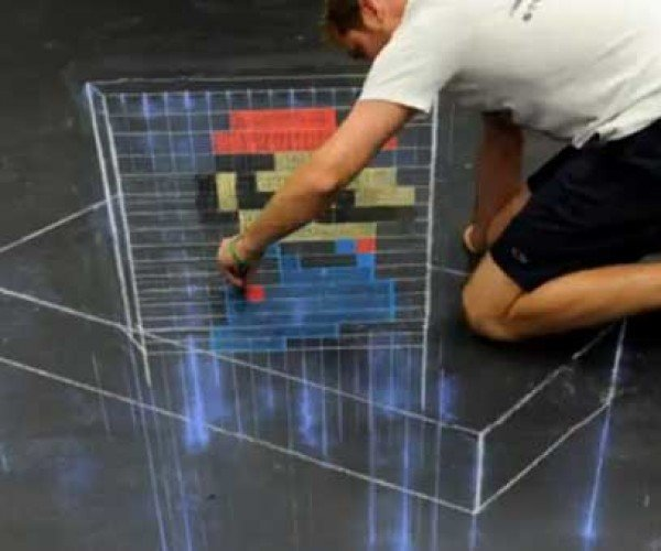 3D Mario Time Lapse Art Creation Captured on Video