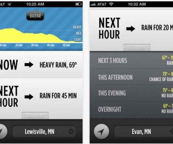 Dark Sky App for iOS Predicts the Weather, on the Hour