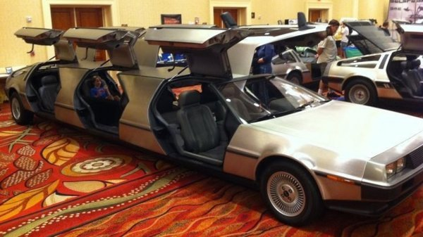 DeLorean Limo Drive to the Future in Style