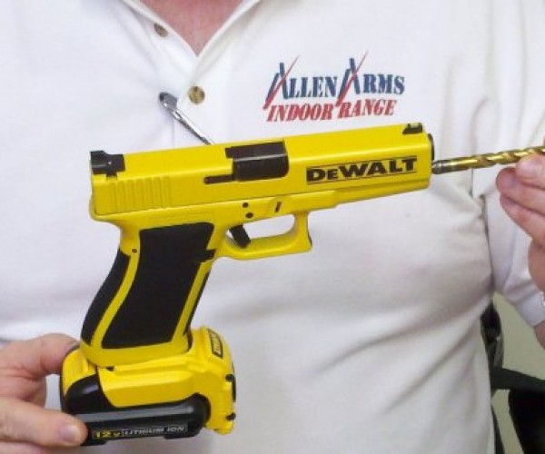 Dewalt Drill Handgun Drills Holes with Bullets