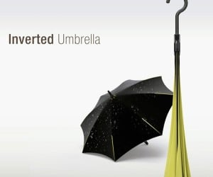 Inverted Umbrella: Protects from Rain, Folds Outside-In to Keep You Dry