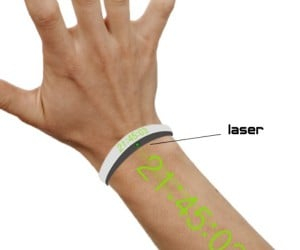 Laser Watch Projects the Time on Your Arm