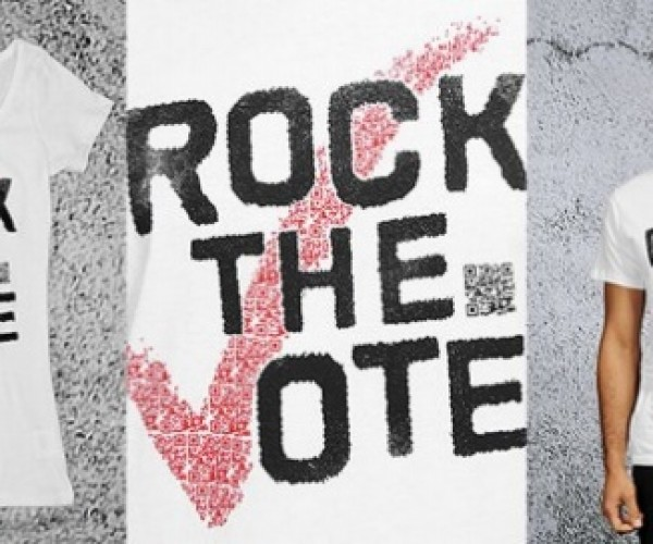 Rockin' Rock the Vote Shirts Let You Register via Smartphone