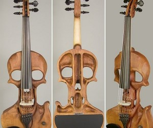 Skull Electric Violin is Classically Evil