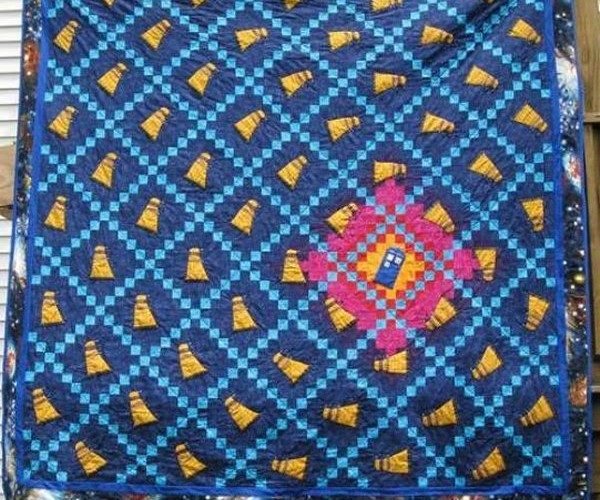 Doctor Who TARDIS Quilt Surprisingly Not Made from the Fabric of Time
