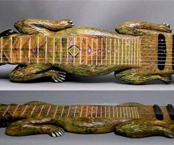 Alligator Guitar Makes Crocodile Rock Possible, Elton John Elated