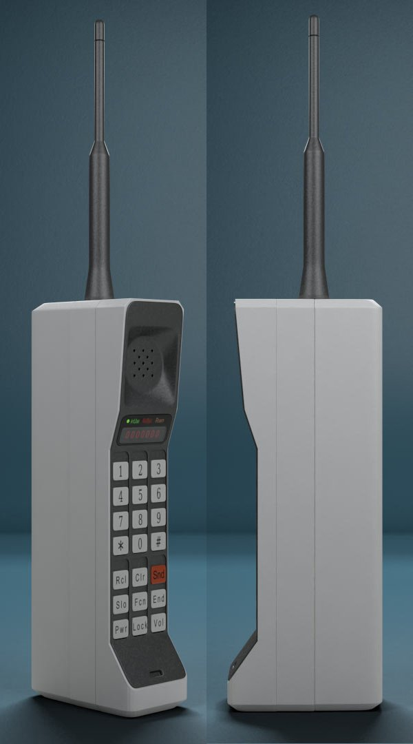 bluetooth 80s brick phone 3