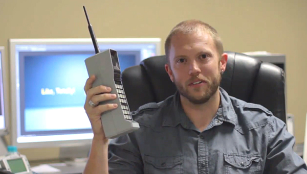 bluetooth 80s brick phone