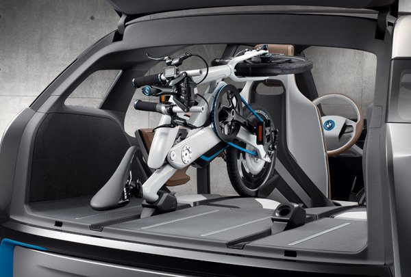bmw i pedelec electric bike trunk