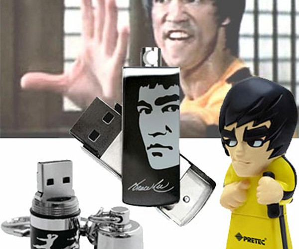 Waaaaaaaa… Bruce Lee Flash Drives Will Kick Your Data's Butt