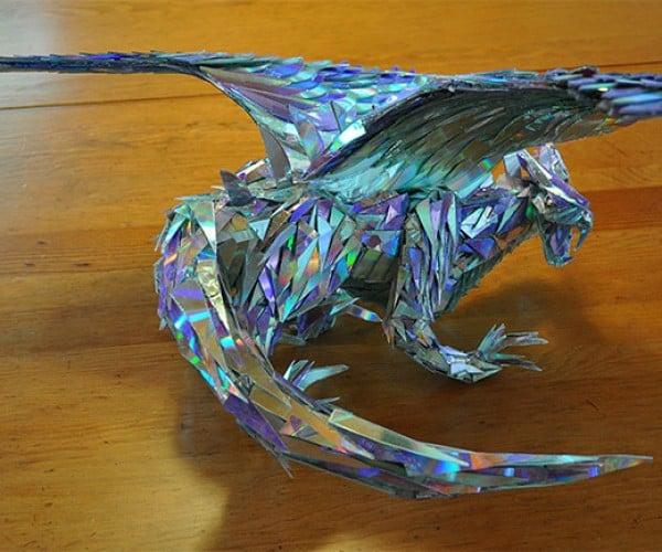 Amazing Dragon Make out of CD Shards: Discerys Targaryen
