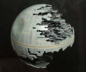 Death Star Carved out of a Ping Pong Ball