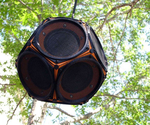 dodecahedron speaker by 60cyclehum 2