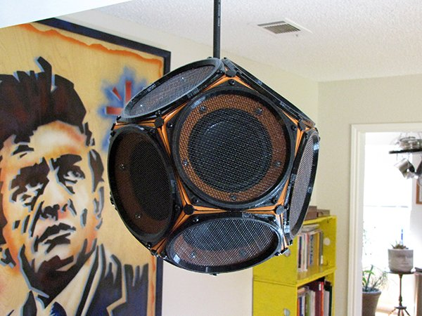 dodecahedron speaker by 60cyclehum