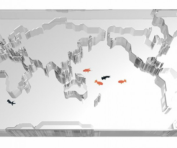 It's Easy to Find Nemo in This World Map Aquarium