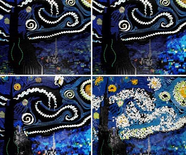 Vincent Van Dominogh's Starry Night: Falling Skies