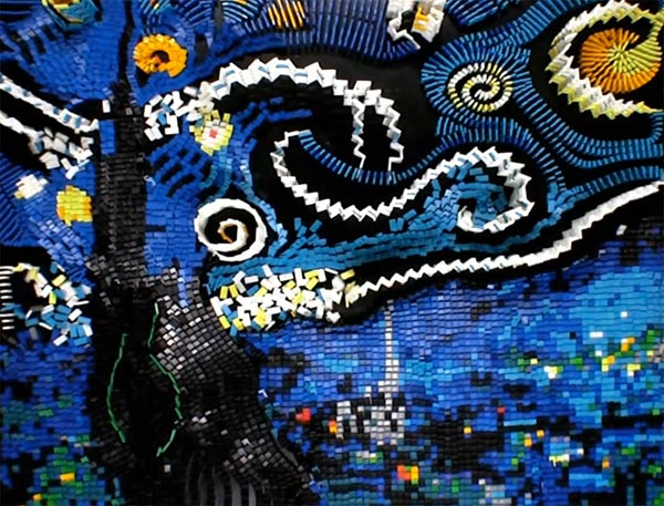 flippycat domino vincent van gogh domniogh starry night