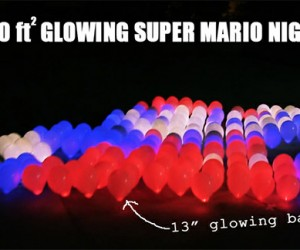 Guy Makes Giant Light-up Mario Kite, Doesn't Make Any Airplanes Crash