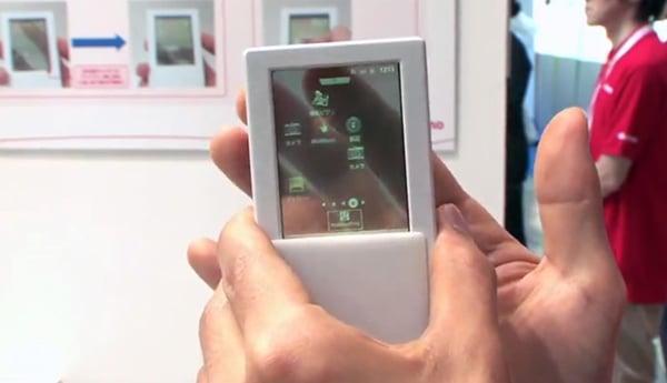 fujitsu transparent smartphone japan