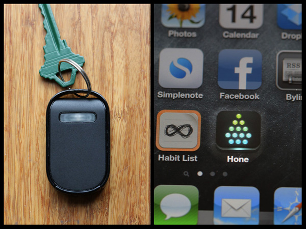 hone bluetooth dongle find your keys app