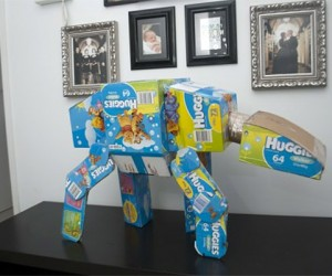 AT-AT Made from Huggies Diaper Boxes: The Empire is Super Absorbent