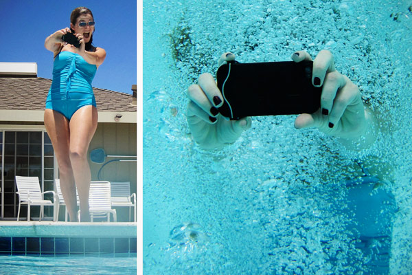 iphone scuba suit case waterproof swimming pool