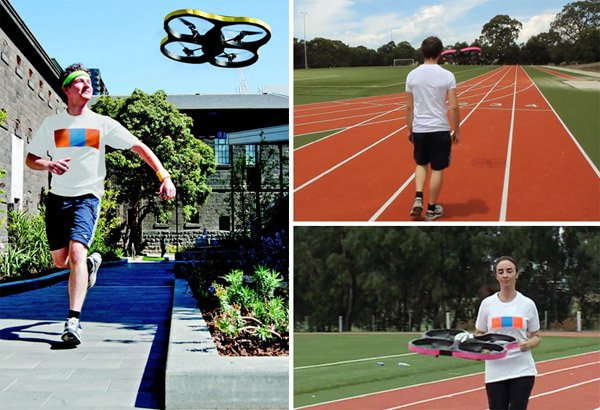 joggobot quadrocopter running coach companion