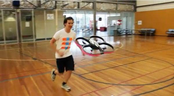 joggobot quadrocopter running companion coach